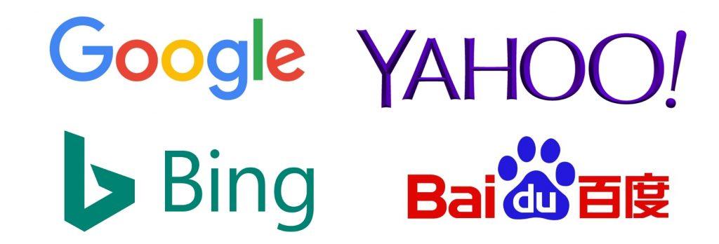 Wyszukiwarki Google Yahoo Bing Baidu