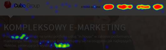 Yandex Metrica – przykładowa mapa kliknięć