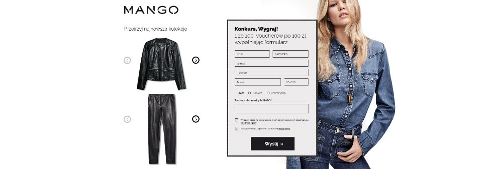 Kampania reklamowa w internecie – landing page Mango