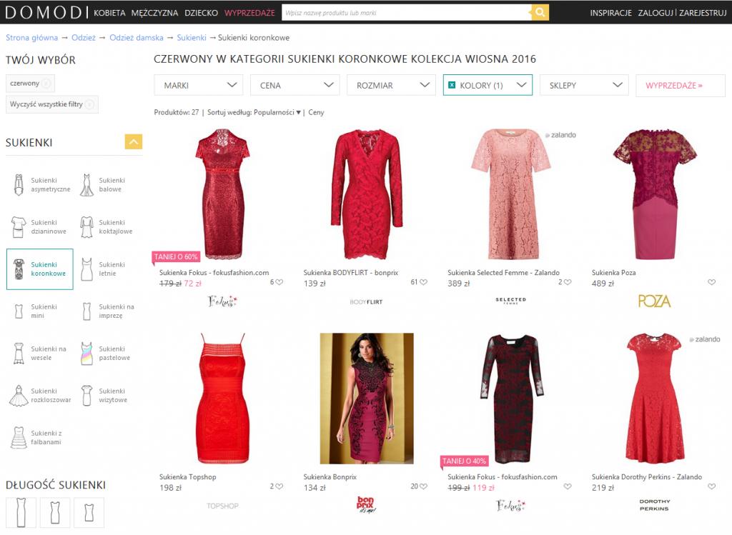 Sprzedaż ubrań przezinternet – porównywarki modowe
