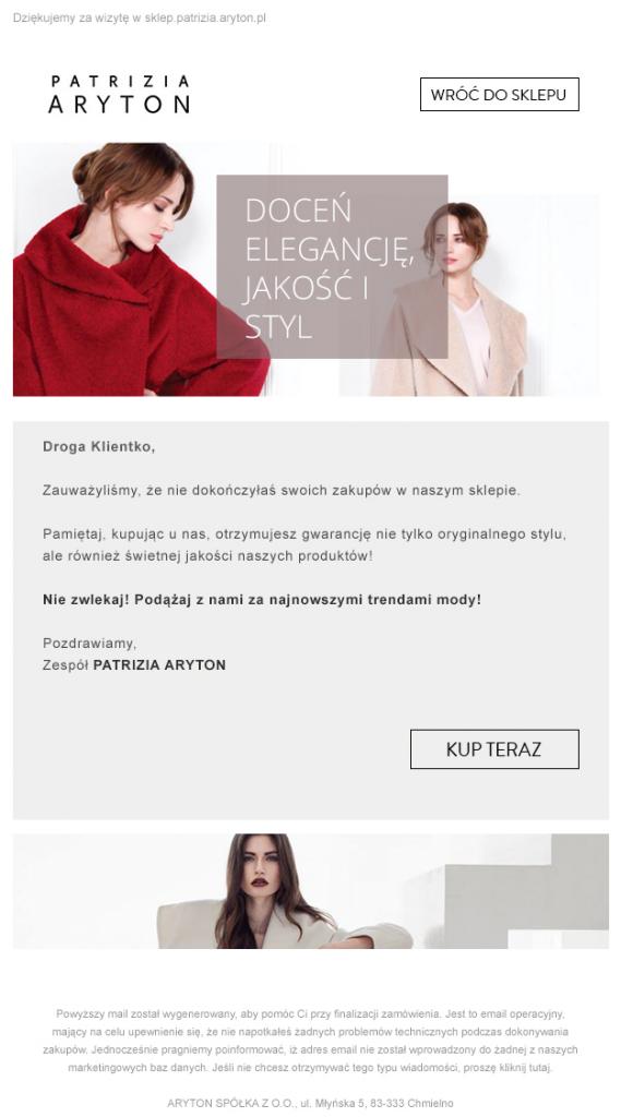 Sprzedaż ubrań przezinternet – dokończenie zakupów