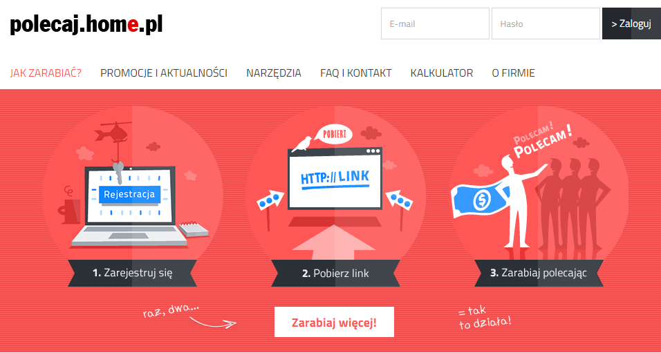 Rys. Landing page Polecaj.home.pl