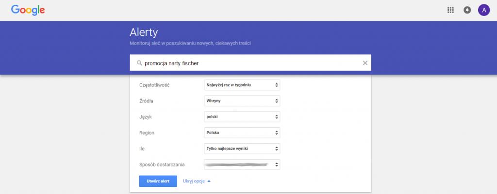 Google Alerts – o czym pisać na blogu – performance360.pl