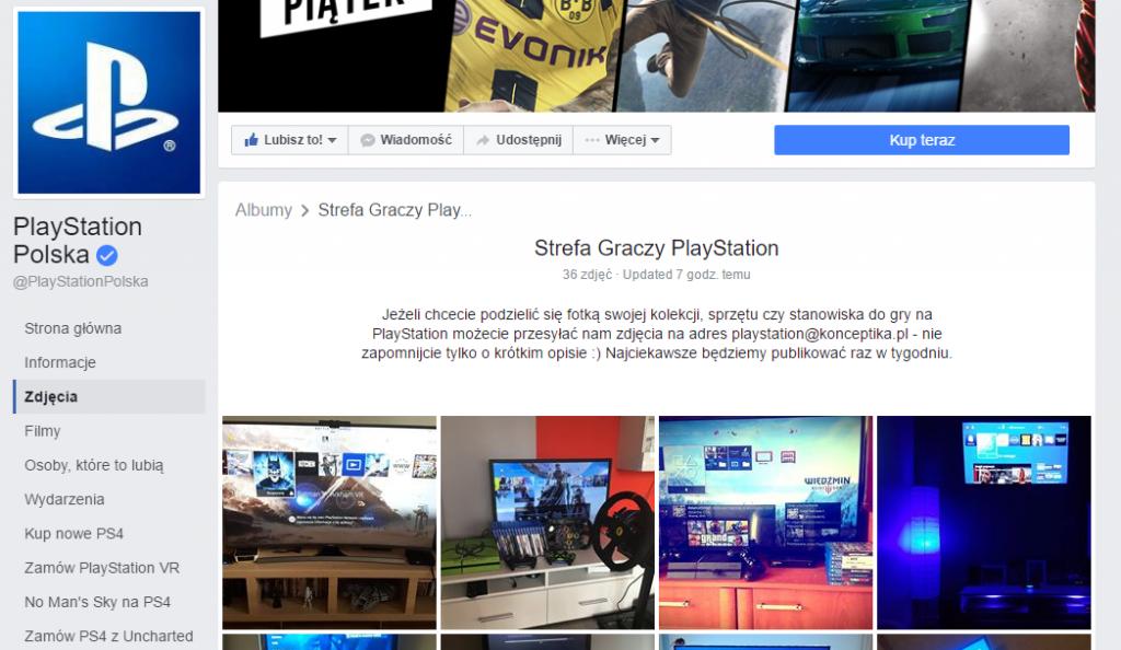 Playstation Polska - zaangażowanie fanów
