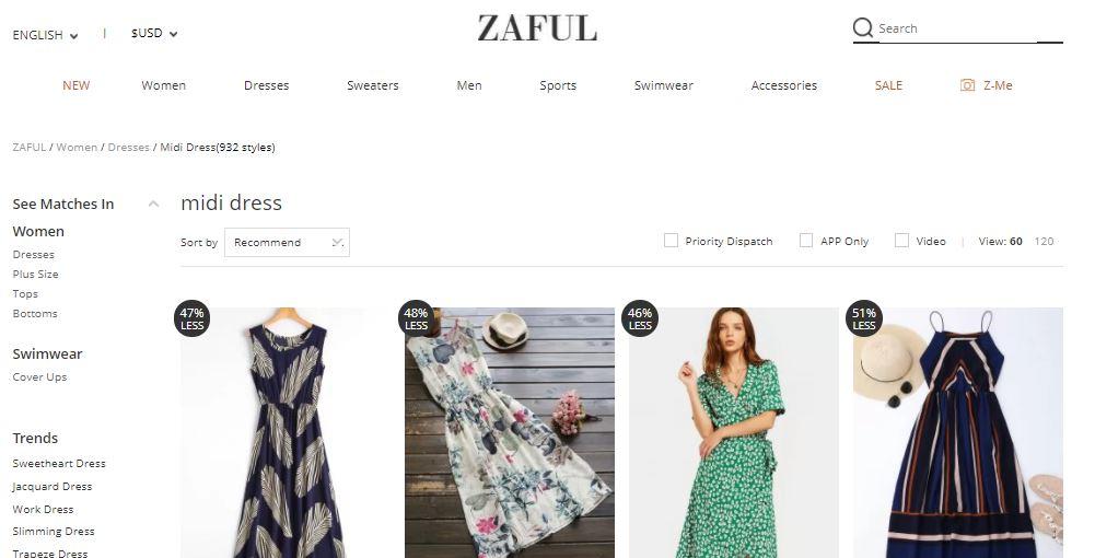 Sklep Zaful - polecanie produktów, program partnerski