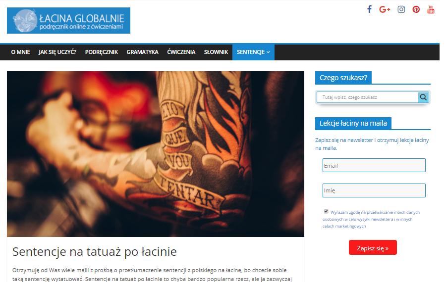 Łacina Globalnie